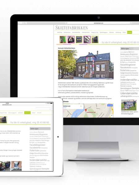 Website for Skiltefabrikken