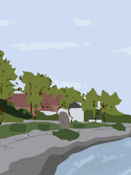 Middelfart Gammel Havn landskabs tegning