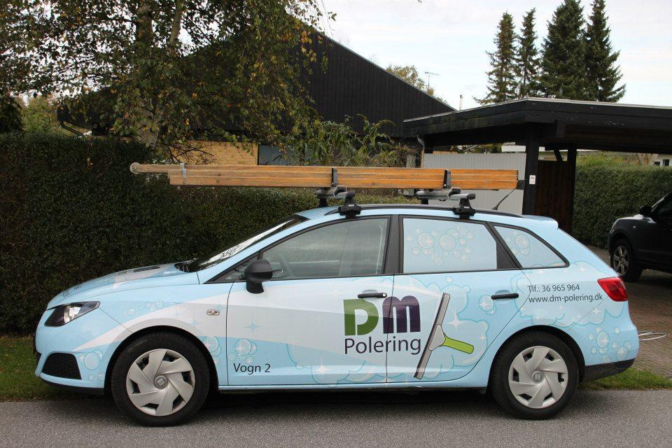 DM Polering logo og bil design af Karina Romanow