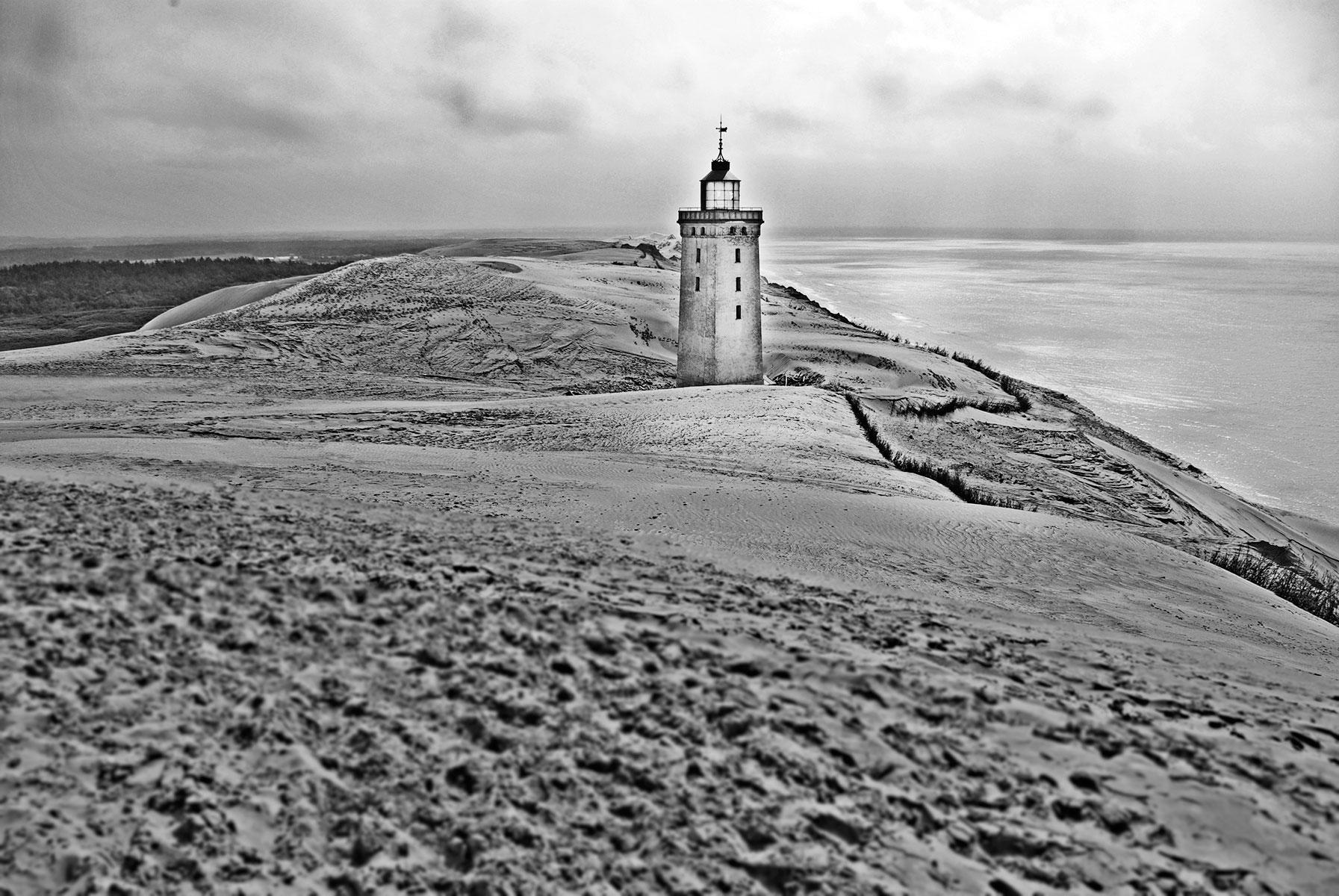 Rugbjerg Knude Fyr ved Lønstrup Visit Nordjylland fotograferet af Karina Romanow, photoshop af Karina Romanow